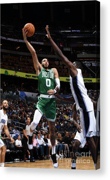 Nba Pro Basketball Acrylic Print featuring the photograph Jayson Tatum by Fernando Medina