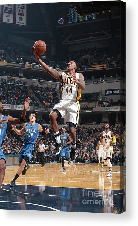 Nba Pro Basketball Acrylic Print featuring the photograph Jeff Teague by Ron Hoskins