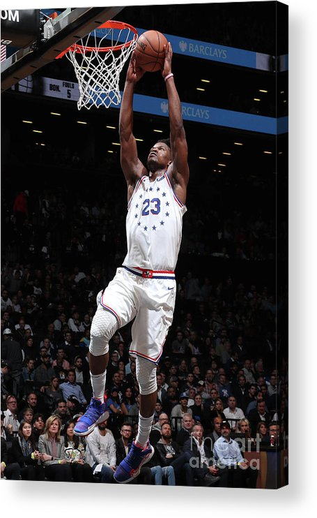 Playoffs Acrylic Print featuring the photograph Jimmy Butler by Nathaniel S. Butler