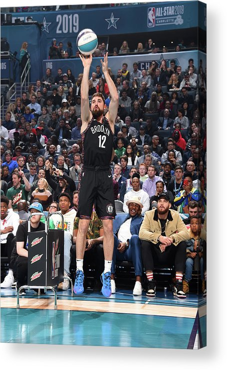Nba Pro Basketball Acrylic Print featuring the photograph Joe Harris by Andrew D. Bernstein