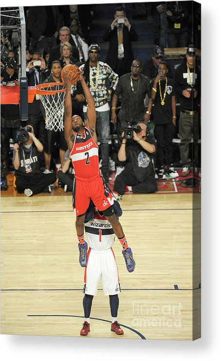 Smoothie King Center Acrylic Print featuring the photograph John Wall by Bill Baptist