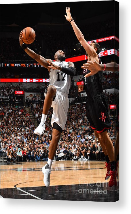Playoffs Acrylic Print featuring the photograph Jonathon Simmons by Jesse D. Garrabrant