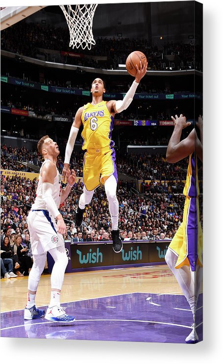 Nba Pro Basketball Acrylic Print featuring the photograph Jordan Clarkson by Andrew D. Bernstein