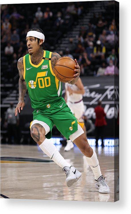Nba Pro Basketball Acrylic Print featuring the photograph Jordan Clarkson by Melissa Majchrzak