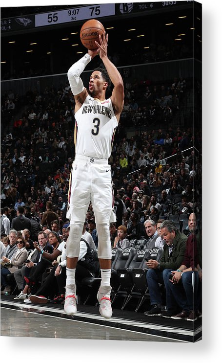 Nba Pro Basketball Acrylic Print featuring the photograph Josh Hart by Nathaniel S. Butler