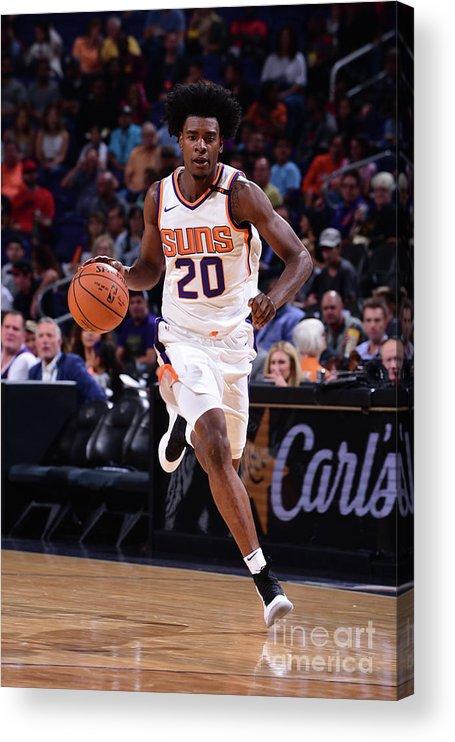 Nba Pro Basketball Acrylic Print featuring the photograph Josh Jackson by Michael Gonzales