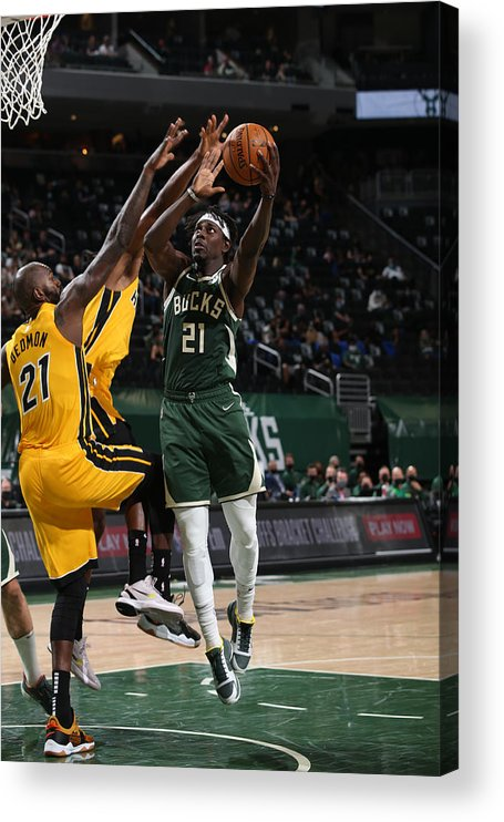 Playoffs Acrylic Print featuring the photograph Jrue Holiday by Gary Dineen