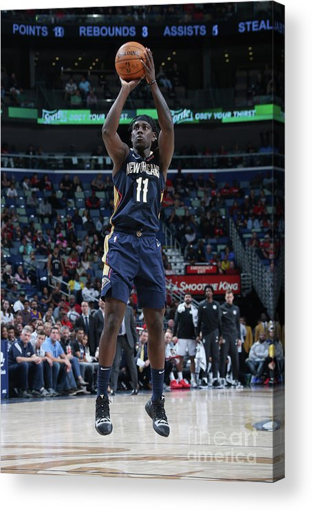 Smoothie King Center Acrylic Print featuring the photograph Jrue Holiday by Layne Murdoch