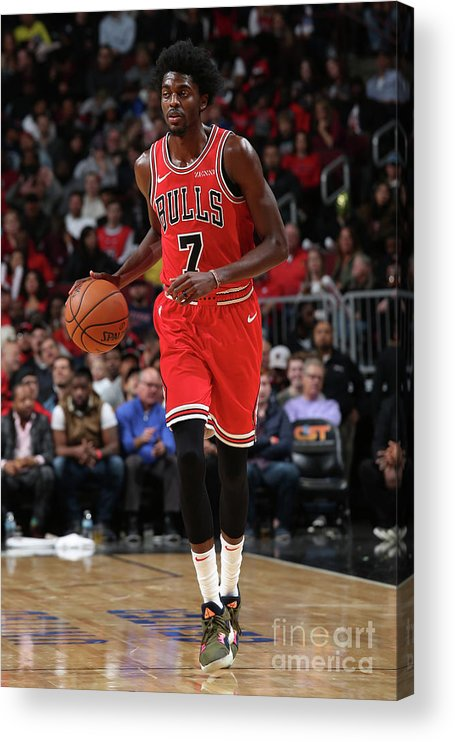 Nba Pro Basketball Acrylic Print featuring the photograph Justin Holiday by Gary Dineen
