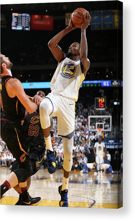 Nba Pro Basketball Acrylic Print featuring the photograph Kevin Durant by David Sherman