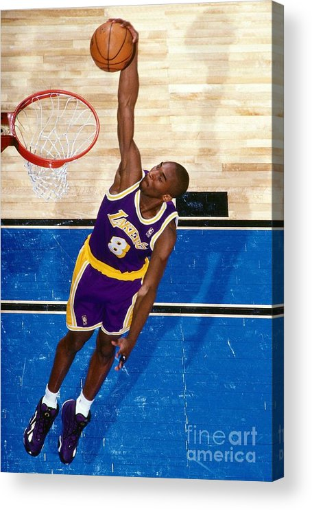 Nba Pro Basketball Acrylic Print featuring the photograph Kobe Bryant by Nathaniel S. Butler
