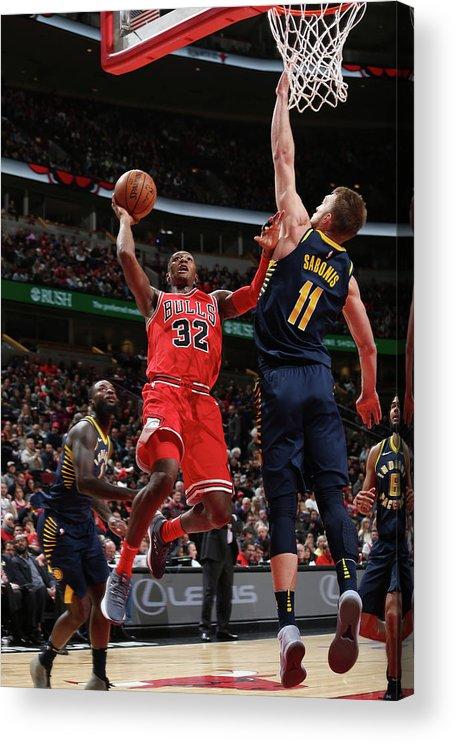 Chicago Bulls Acrylic Print featuring the photograph Kris Dunn by Gary Dineen