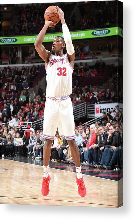 Chicago Bulls Acrylic Print featuring the photograph Kris Dunn by Randy Belice