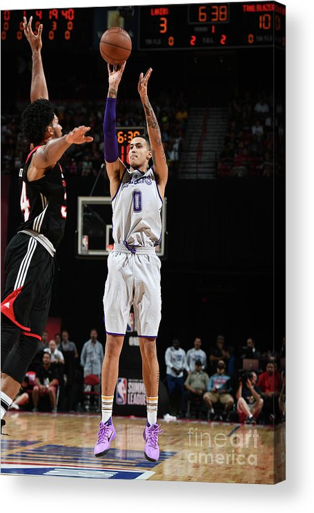 Nba Pro Basketball Acrylic Print featuring the photograph Kyle Kuzma by Garrett Ellwood