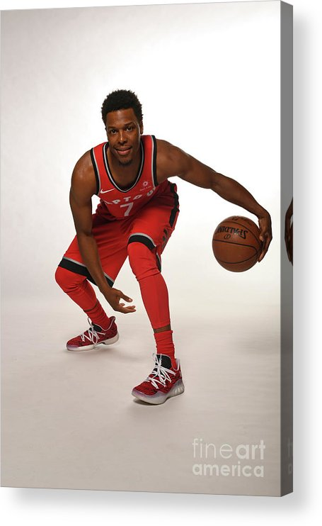 Media Day Acrylic Print featuring the photograph Kyle Lowry by Ron Turenne