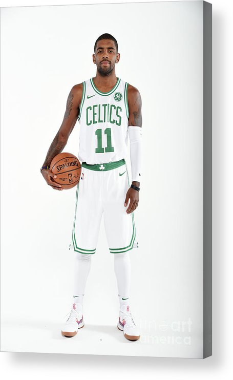 Media Day Acrylic Print featuring the photograph Kyrie Irving by Brian Babineau