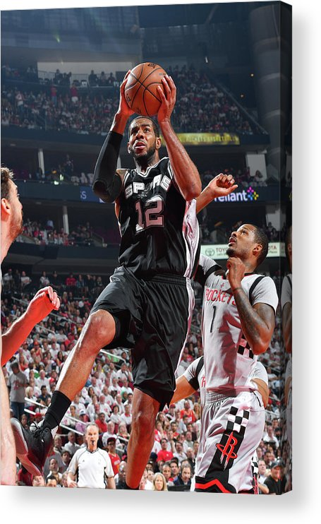 Playoffs Acrylic Print featuring the photograph Lamarcus Aldridge by Jesse D. Garrabrant