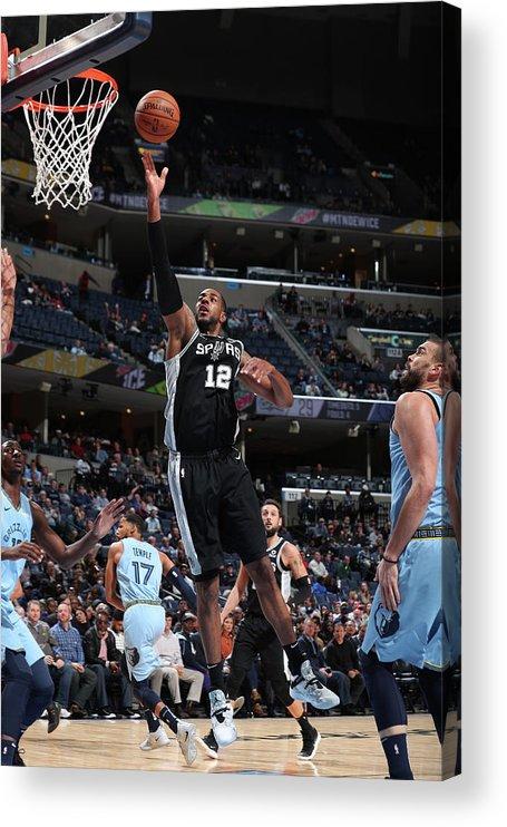 Nba Pro Basketball Acrylic Print featuring the photograph Lamarcus Aldridge by Joe Murphy