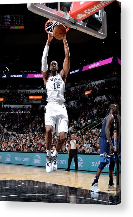 Nba Pro Basketball Acrylic Print featuring the photograph Lamarcus Aldridge by Mark Sobhani