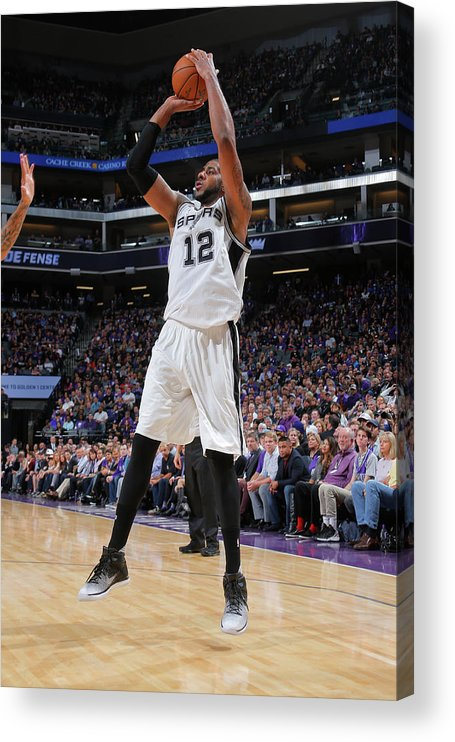 Nba Pro Basketball Acrylic Print featuring the photograph Lamarcus Aldridge by Rocky Widner