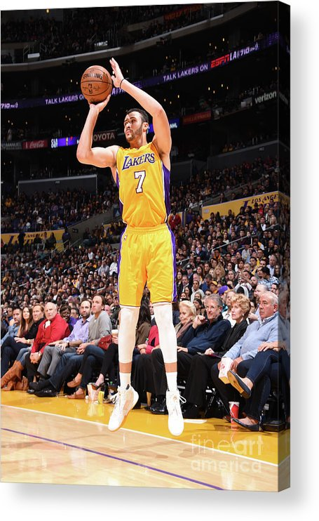 Nba Pro Basketball Acrylic Print featuring the photograph Larry Nance by Andrew D. Bernstein