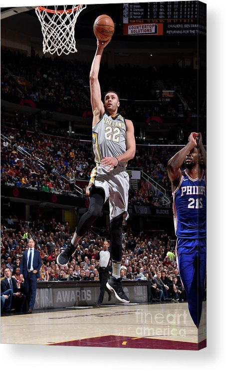 Nba Pro Basketball Acrylic Print featuring the photograph Larry Nance by David Liam Kyle