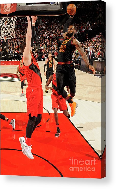 Jusuf Nurkić Acrylic Print featuring the photograph Lebron James by Cameron Browne