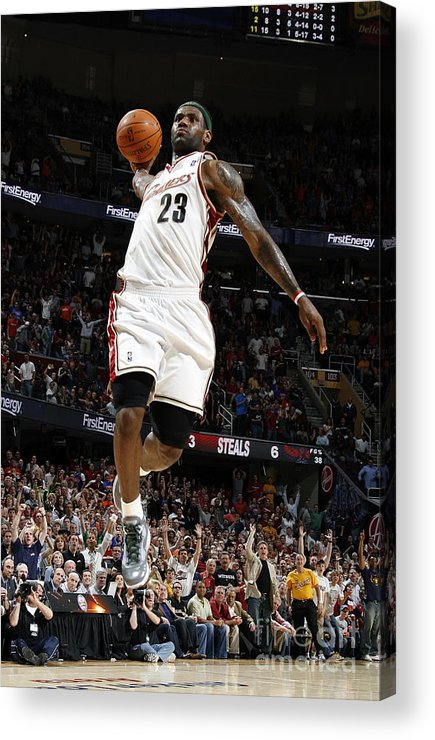 Nba Pro Basketball Acrylic Print featuring the photograph Lebron James by Gregory Shamus