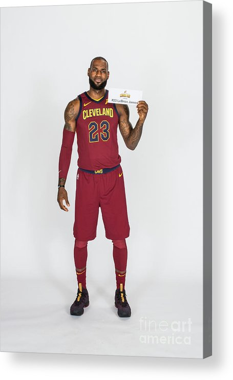 Media Day Acrylic Print featuring the photograph Lebron James by Michael J. Lebrecht Ii