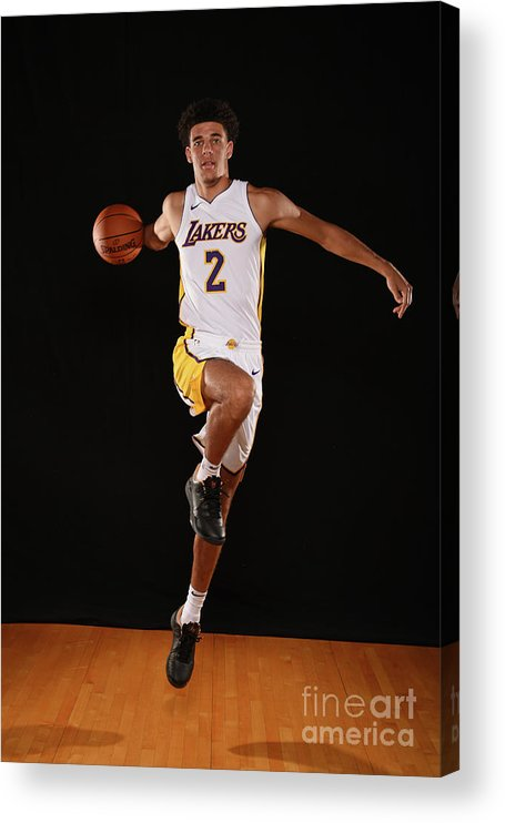 Nba Pro Basketball Acrylic Print featuring the photograph Lonzo Ball by Brian Babineau