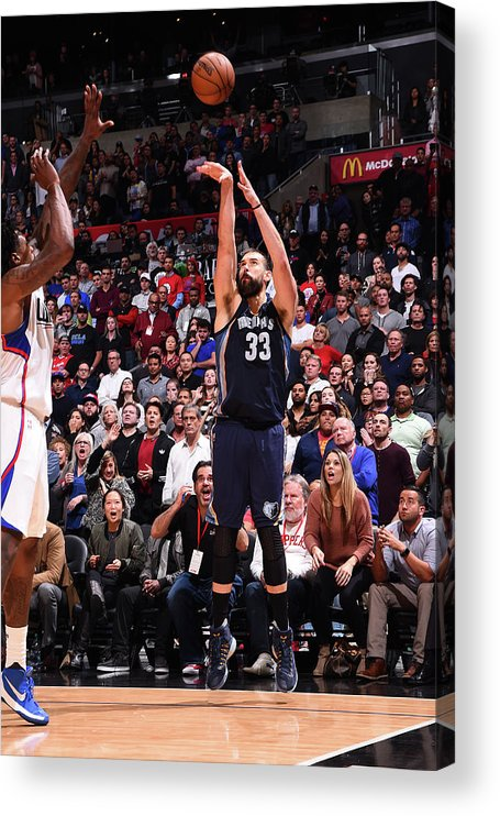 Nba Pro Basketball Acrylic Print featuring the photograph Marc Gasol by Andrew D. Bernstein