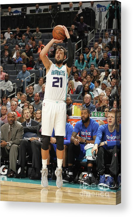 Nba Pro Basketball Acrylic Print featuring the photograph Marco Belinelli by Brock Williams-smith