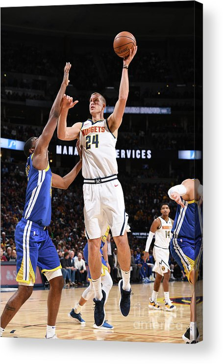 Nba Pro Basketball Acrylic Print featuring the photograph Mason Plumlee by Garrett Ellwood