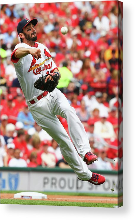 St. Louis Cardinals Acrylic Print featuring the photograph Matt Carpenter by Dilip Vishwanat