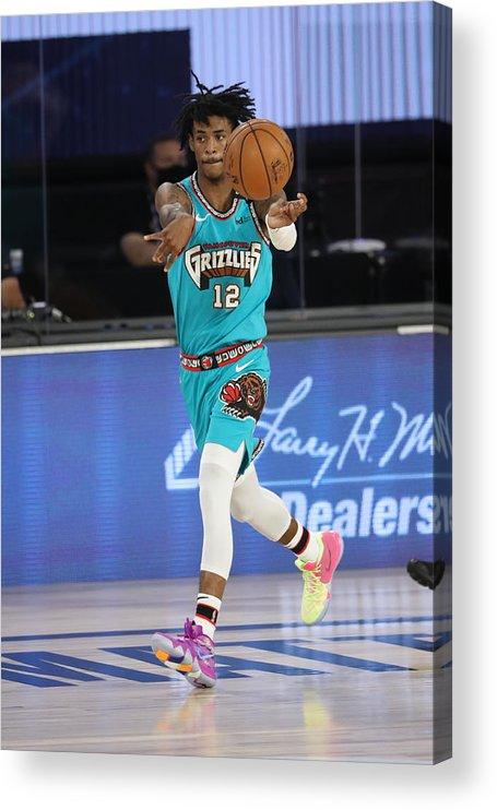 Nba Pro Basketball Acrylic Print featuring the photograph Memphis Grizzlies v Utah Jazz by Joe Murphy