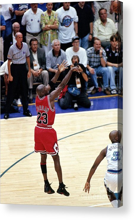 Chicago Bulls Acrylic Print featuring the photograph Michael Jordan by Nba Photos