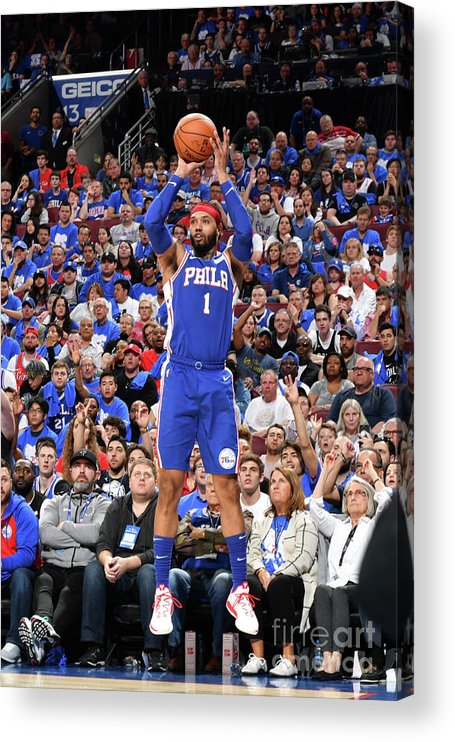 Playoffs Acrylic Print featuring the photograph Mike Scott by Jesse D. Garrabrant