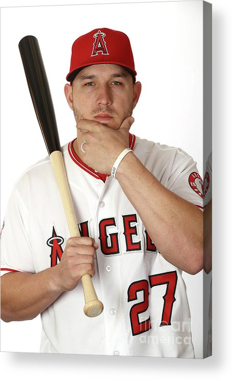 People Acrylic Print featuring the photograph Mike Trout by Jamie Squire