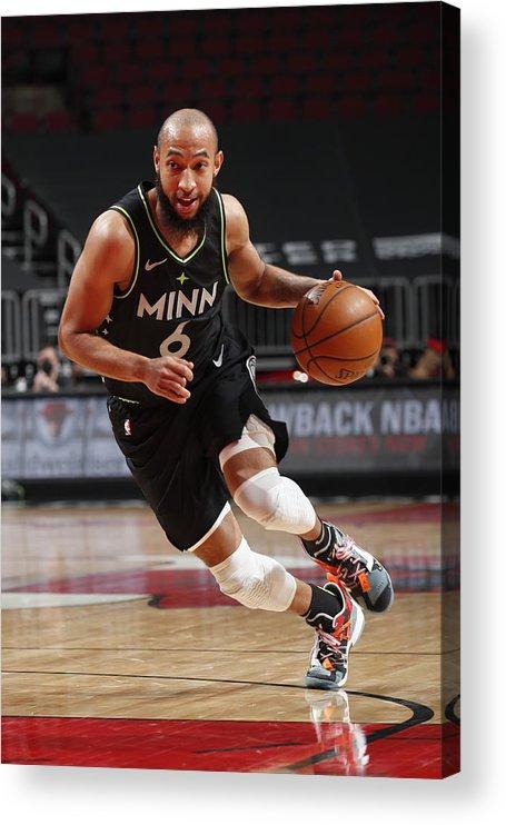 Nba Pro Basketball Acrylic Print featuring the photograph Minnesota Timberwolves v Chicago Bulls by Jeff Haynes