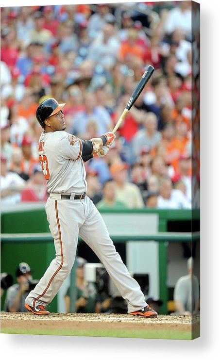 American League Baseball Acrylic Print featuring the photograph Nelson Cruz by Greg Fiume