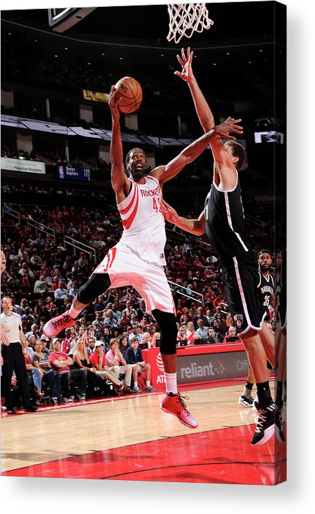 Nba Pro Basketball Acrylic Print featuring the photograph Nene Hilario by Bill Baptist