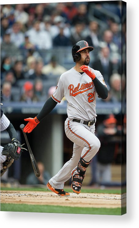 East Acrylic Print featuring the photograph Nick Markakis by Rob Tringali