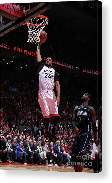 Playoffs Acrylic Print featuring the photograph Norman Powell by Nathaniel S. Butler