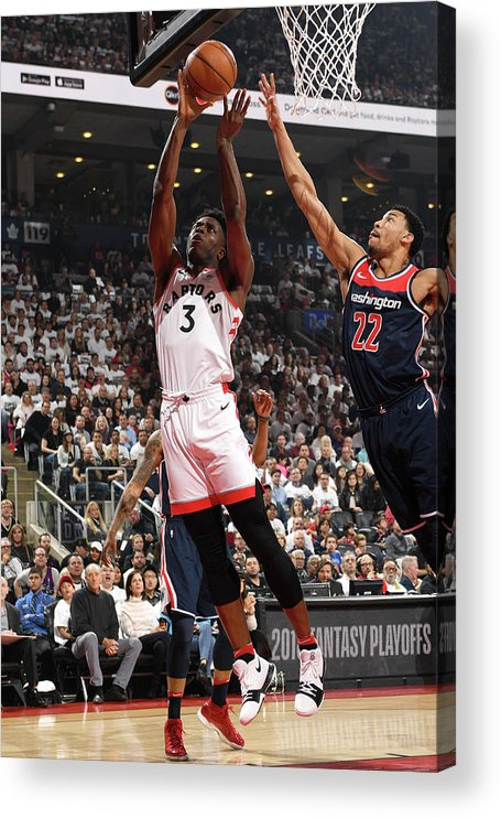 Playoffs Acrylic Print featuring the photograph Og Anunoby by Ron Turenne