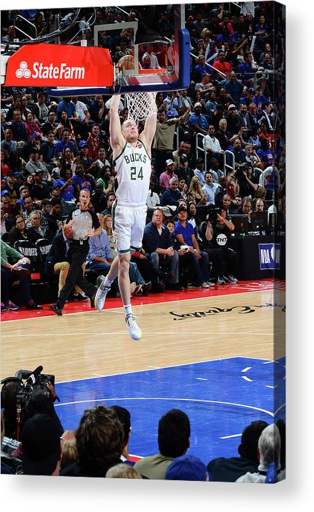 Playoffs Acrylic Print featuring the photograph Pat Connaughton by Chris Schwegler