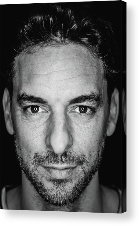 Media Day Acrylic Print featuring the photograph Pau Gasol by Mark Sobhani