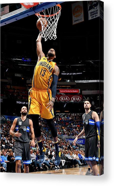 Nba Pro Basketball Acrylic Print featuring the photograph Paul George by Fernando Medina