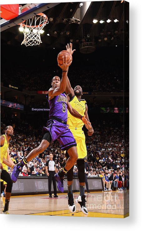 Nba Pro Basketball Acrylic Print featuring the photograph Rajon Rondo by Noah Graham