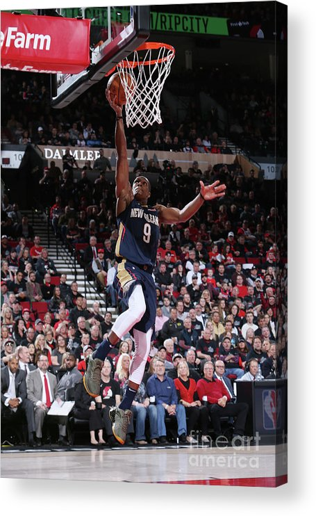 Playoffs Acrylic Print featuring the photograph Rajon Rondo by Sam Forencich