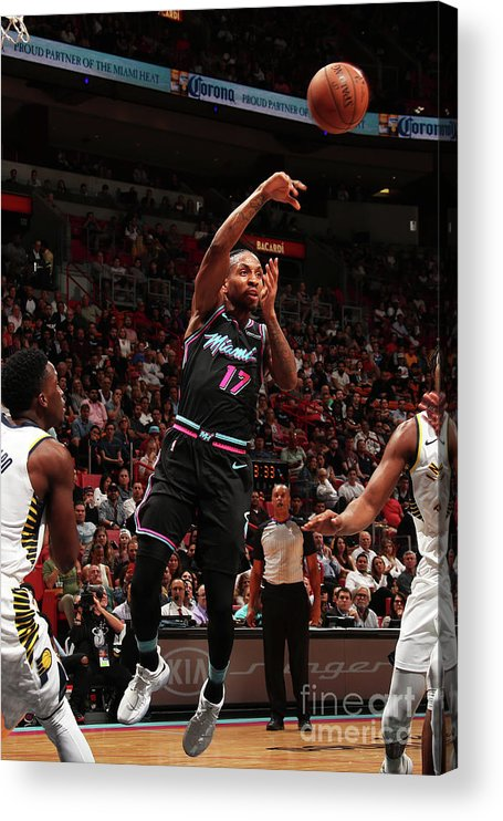 Nba Pro Basketball Acrylic Print featuring the photograph Rodney Mcgruder by Issac Baldizon